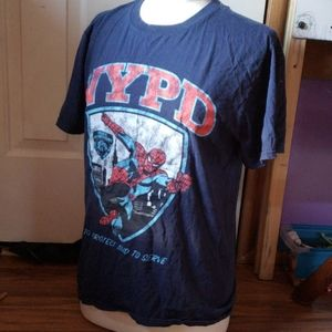 Marvel NYPD spider man distressed t shirt
